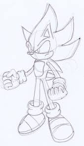 super sonic coloring pages super sonic battle sketch by omgnova on deviantart