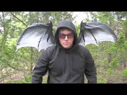 Red Wings Halloween Costume Gray Moving Red Dragon Bat Wings Halloween Costume Accessor