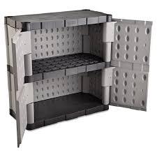 amazon com rubbermaid commercial 7085 double door storage cabinet