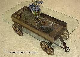 Display Coffee Table Repurposed Wagon Coffee Tables
