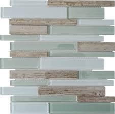 natural stone with crystal mosaic textured marble tile backsplash