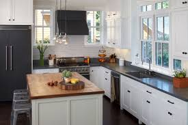 White Kitchen Cabinets With Black Granite Countertops by Kitchen Room Design Delightful White L Shape Kitchen Cabinet
