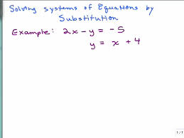 Solving a System of Equations by Substitution   part   preview image MathVids