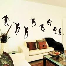 diy black skateboard sports cool life simple wall sticke stickers diy black skateboard sports cool life simple wall sticke stickers art mural room decor sticker wallpaper home decoration h11525 home decoration wall