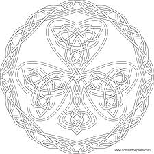good celtic mandala coloring pages printable with celtic coloring