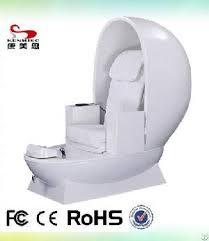 popular design egg shaped white pedicure chair
