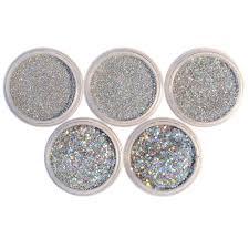 nicole diary 5boxes set holographic glitter powder holo dust