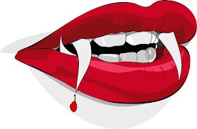 halloween vector art bloody vampire lips free halloween vector clipart illustration