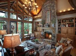 stunning great room chandelier rustic great room with built in