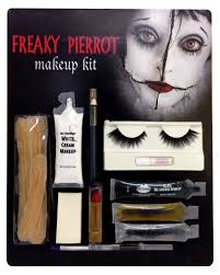 freaky pierrot makeup set horror clown make up buy now horror
