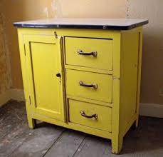 Enamel Kitchen Cabinets by Vintage 1950s Porcelain Enamel Top Wood Kitchen Shop Cabinet Work