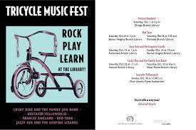 Tricycle Music Fest         Kids    San Francisco Public Library San Francisco Public Library Tricycle Music Fest      Performers