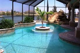 with tub and slide vinyl liner swimming pool with diving board