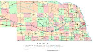 Large Map Of Usa by Nebraska Printable Map