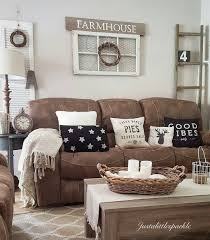 Living Room Colors With Brown Furniture Brown Couch Rustic Home Rustic Living Room Farmhouse Home