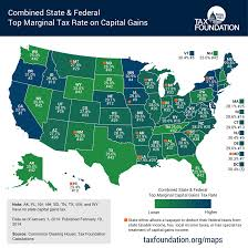 State Map United States by How High Are Capital Gains Tax Rates In Your State Tax Foundation