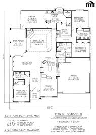 Simple 4 Bedroom House Plans by 4 Bedroom 1 Story House Plans Beauteous Small Room Landscape With