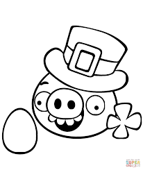 minion pig dressed as a leprechaun coloring page free printable