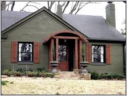 exterior paint colors with brick home design