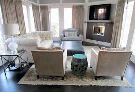 cream and grey curtains nice living room design with cozy sofa