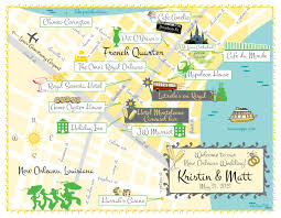 Map New Orleans French Quarter by As Seen On Style Me Pretty New Orleans Wedding Map Save The