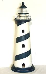 Decorative Lighthouses For In Home Use 36 Inch Nautical Wood Lighthouse