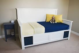 bedroom captain style queen size wood bed with drawers and