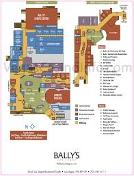Vegas Monorail Map Bally U0027s Property Map Casino And Hotel Layout