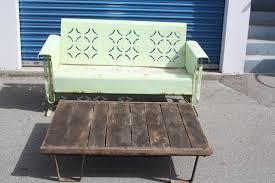 vintage metal porch glider 1950 u0027s in los angeles county east los