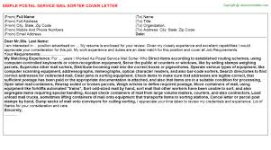 resume writing example free  Cover Letter For Postal Service