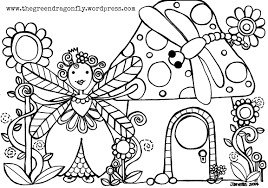 coloring sheets u2013 the green dragonfly