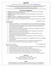 Resume Examples Retail Manager by Retail District Manager Resume Resume For Your Job Application