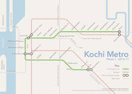 Metro Lines Map by List Of Kochi Metro Stations Wikipedia
