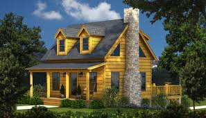 Small Log Home Floor Plans The Auburn A Small Log Cabin Plan