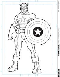 captain america coloring page chuckbutt com