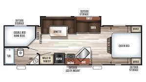 Evergreen Travel Trailer Floor Plans by Forest River Grey Wolf 26dbh Travel Trailer Sales