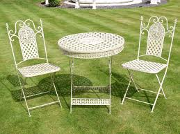 Cast Iron Patio Set Table Chairs Garden Furniture - french ornate cream wrought iron metal garden table and chairs