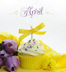 Flowers For Each Month - beautiful cupcake with seasonal flowers and decorations for each