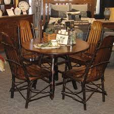 42 42 round rustic hickory and brown maple dining table