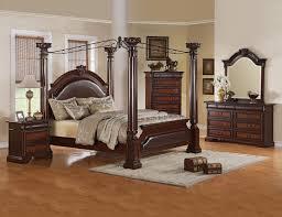 crown mark furniture neo renaissance king poster bed in dark walnut