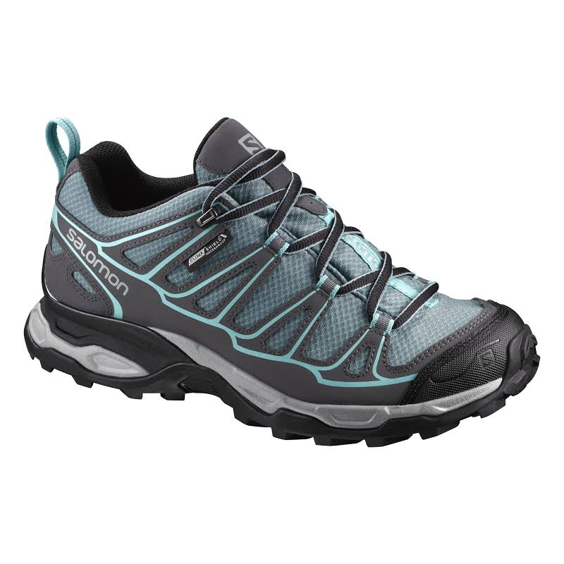 Salomon X Ultra Prime Cs Wp Hiking Shoes, Artic/magnet/aruba Blue