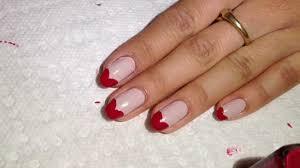 heart tip nail tutorial youtube