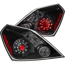 nissan altima coupe black anzo usa nissan altima 08 13 2dr l e d tail lights black tail