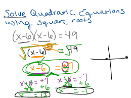 showme solving quadratic equations using square roots with