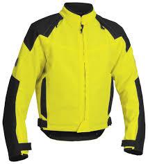 fluorescent bike jacket firstgear hi viz rush tex jacket revzilla