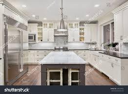 Kitchen Interior Photo Kitchen Interior New Luxury Home Stock Photo 243653452 Shutterstock