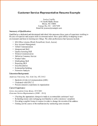 Resume Retail Template Customer Service Representative Resume Entry Level Resume For