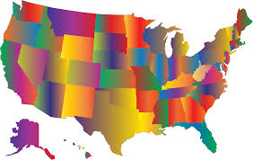 Big Map Of The United States by Clipart Multicolored Blended United States Map