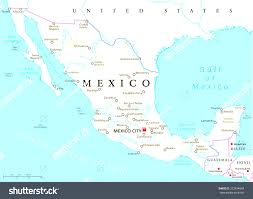 Map Of Juarez Mexico by Free Mexico Powerpoint Map In Map Of Mexico And Capitals