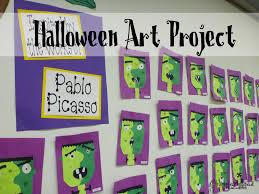 halloween art project picasso u0027s frankenstein 2nd grade art